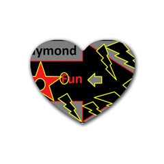 Raymond Fun Show 2 4 Pack Rubber Drinks Coaster (Heart)