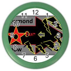 Raymond Fun Show 2 Colored Wall Clock