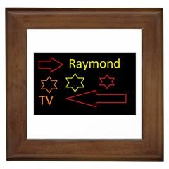 Raymond Tv Framed Ceramic Tile