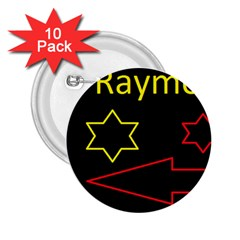 Raymond Tv 10 Pack Regular Button (round)