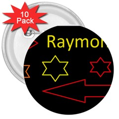 Raymond Tv 10 Pack Large Button (round)