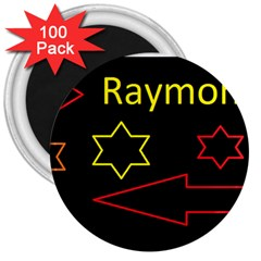 Raymond Tv 100 Pack Large Magnet (round)