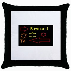 Raymond Tv Black Throw Pillow Case