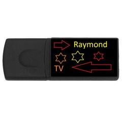 Raymond Tv 2Gb USB Flash Drive (Rectangle)