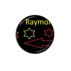 Raymond Tv 4 Pack Golf Ball Marker (for Hat Clip)