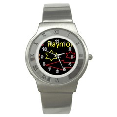 Raymond Tv Stainless Steel Watch (round)