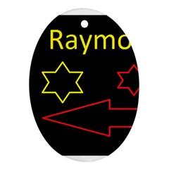 Raymond Tv Oval Ornament (Two Sides)
