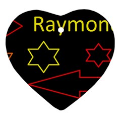 Raymond Tv Heart Ornament (Two Sides)