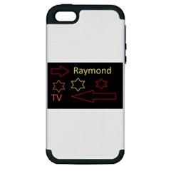 Raymond Tv Apple iPhone 5 Hardshell Case (PC+Silicone)