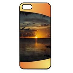 Sunset Apple iPhone 5 Seamless Case (Black)
