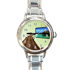 Virtual Tv Classic Elegant Ladies Watch (Round)