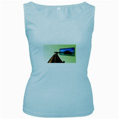 Virtual Tv Baby Blue Womens  Tank Top