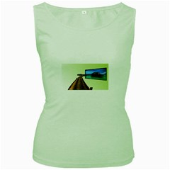 Virtual Tv Green Womens  T-shirt
