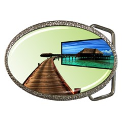 Virtual Tv Belt Buckle (oval)
