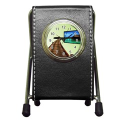 Virtual Tv Stationery Holder Clock