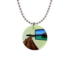 Virtual Tv Mini Button Necklace