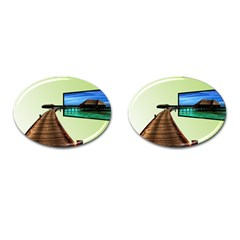 Virtual Tv Oval Cuff Links