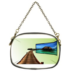 Virtual Tv Twin Sided Evening Purse