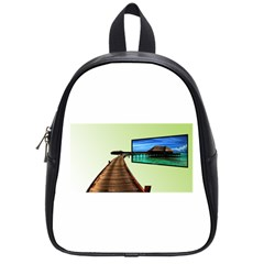 Virtual Tv Small School Backpack