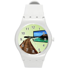 Virtual Tv Round Plastic Sport Watch Medium