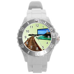 Virtual Tv Round Plastic Sport Watch Large