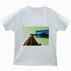 Sony Tv White Kids'' T Shirt