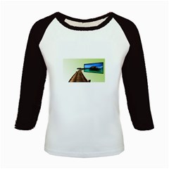 Sony Tv Long Sleeve Raglan Womens'' T Shirt