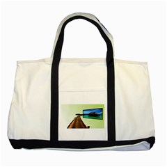 Sony Tv Two Toned Tote Bag