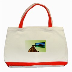 Sony Tv Red Tote Bag