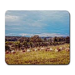 Farm View Large Mouse Pad (Rectangle)