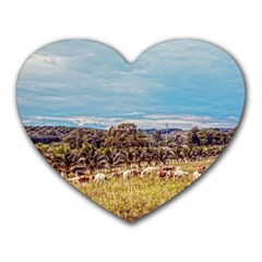 Farm View Mouse Pad (Heart)