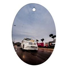 Wedding Car Ceramic Ornament (Oval)
