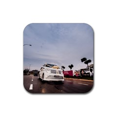 Wedding Car 4 Pack Rubber Drinks Coaster (Square)
