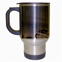 Wedding Car Brushed Chrome Travel Mug