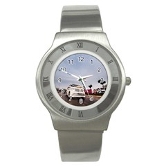Wedding Car Stainless Steel Watch (Round)