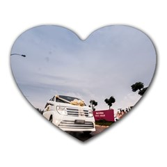 Wedding Car Mouse Pad (heart)