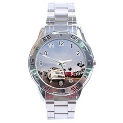 Wedding Car Stainless Steel Analogue Watch (Round)