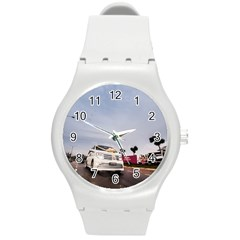 Wedding Car Round Plastic Sport Watch Medium