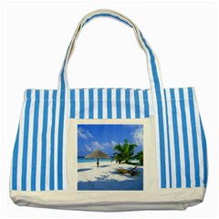 Beach Blue Striped Tote Bag