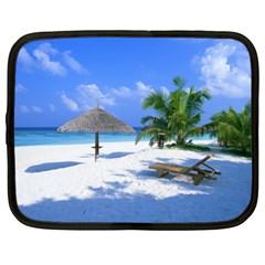 Beach 13  Netbook Case