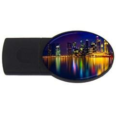 Night View 2Gb USB Flash Drive (Oval)