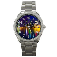 Night View Stainless Steel Sports Watch (round)