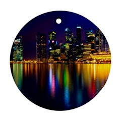 Night View Twin-sided Ceramic Ornament (Round)