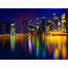 Night View 12  x 16  Unframed Canvas Print