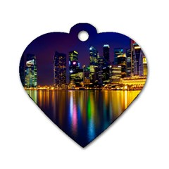 Night View Single Sided Dog Tag (heart)