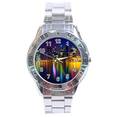 Night View Stainless Steel Analogue Watch (Round)