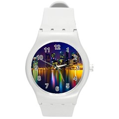 Night View Round Plastic Sport Watch Medium