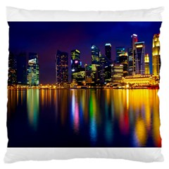 Night View Large Cushion Case (two Sides)