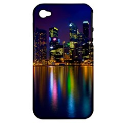 Night View Apple Iphone 4/4s Hardshell Case (pc+silicone)