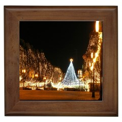 Christmas Deco Framed Ceramic Tile